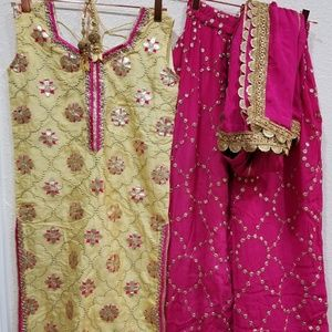 IMPORTED INDIAN PARTY WEAR DRESS SHARARA SUIT